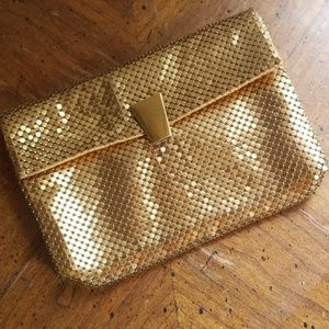 Whiting and davis co vintage mesh wallet clutch